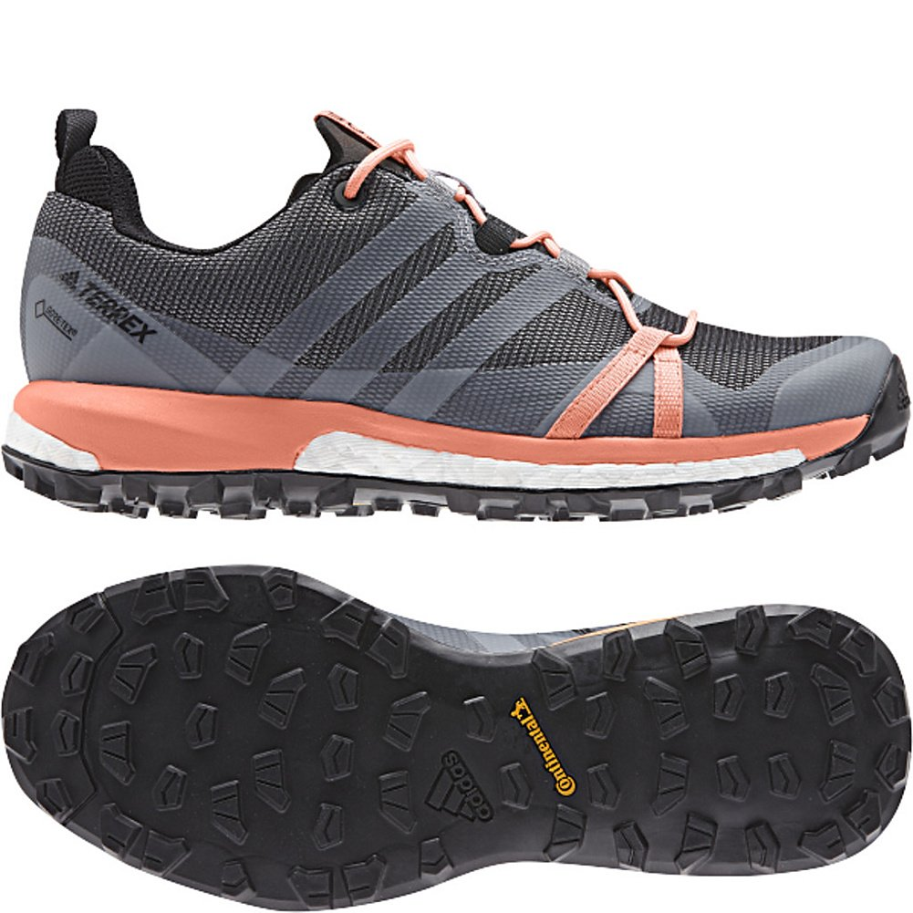 adidas outdoor Womens Terrex Agravic GTX Shoe B072YWSJM8 10 B(M) US|Grey Three/White/Chalk Coral