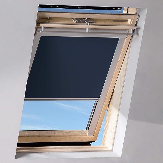 Sol Royal SolReflect D12 Dachfenster Rollo Verdunkelung & Thermo Hitzeschutz für 50x77 cm 204 Dunkelblau