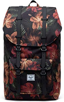 Red Picante Crosshatch Herschel Little America Laptop Backpack Classic 25.0L