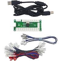 SJ@JX Zero Delay Usb Encoder Led Joystick Kit Arcade Diy Controller For Pc Retropie Raspberry Pi Mame HAPP Style
