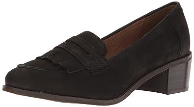 Dune London Women's Gwyneth Slip-On Loafer, Black Nubuck, 37 EU/6
