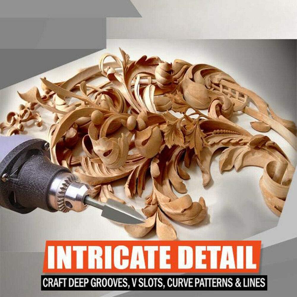 1 set 5 pcs sculpture forage sculpture sur bois et gravure foret de fraisage racine coupeur outils de sculpture pour broyage bricolage travail du bois gravure