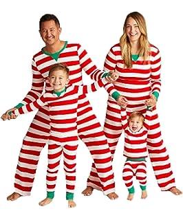 M/ädchen Pyjama Nachtw/äsche Langarm Einfach Streifen Schlafanzug