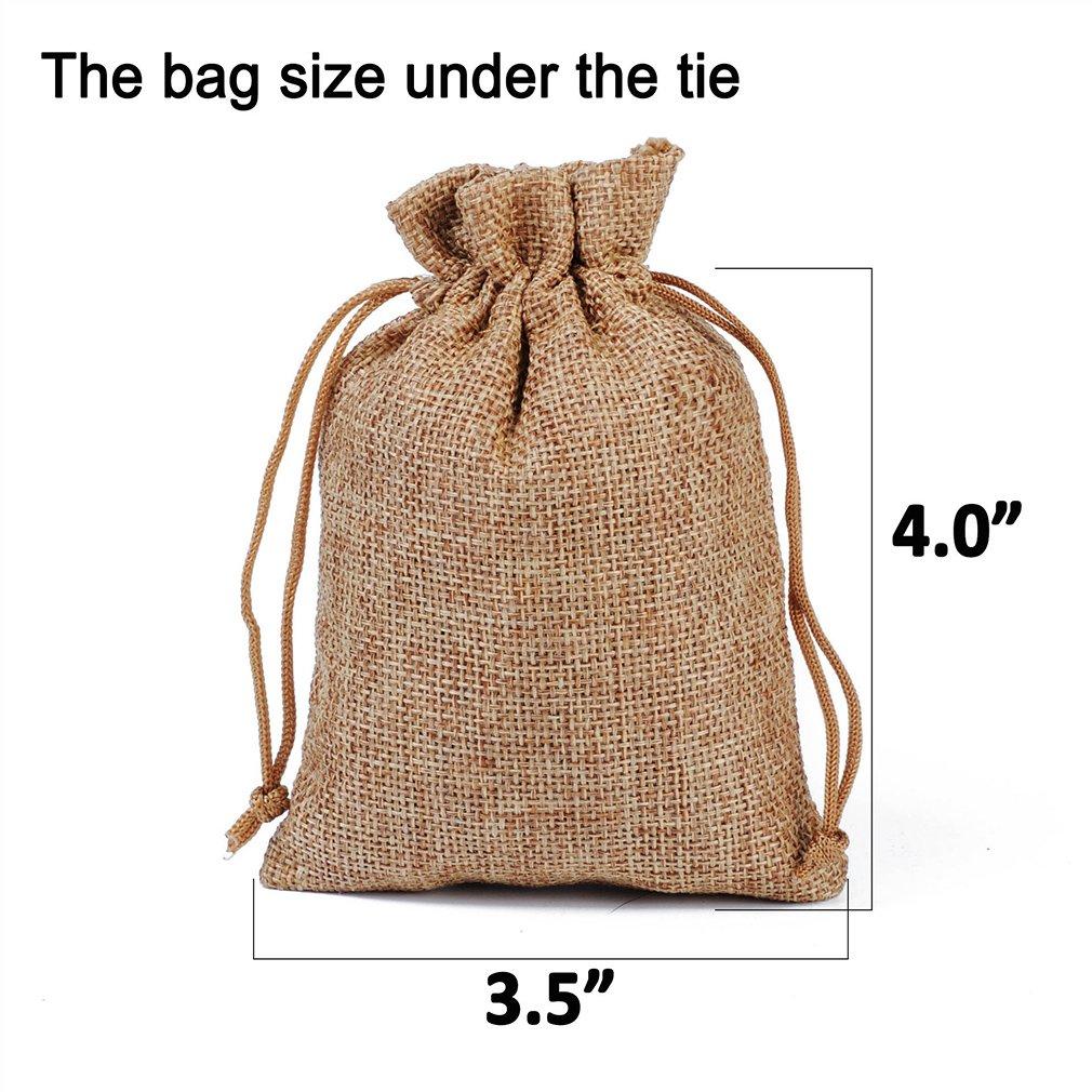 Amazon.com: Paquete de 24 bolsas de arpillera con cordón ...
