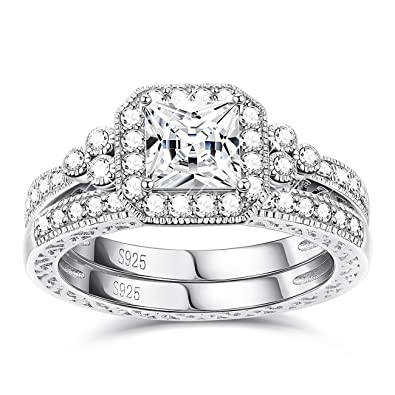Other Fine Rings Solid 925 Sterling Silver Wrapped Around with Princess Cut CZ Ring Jewellery
