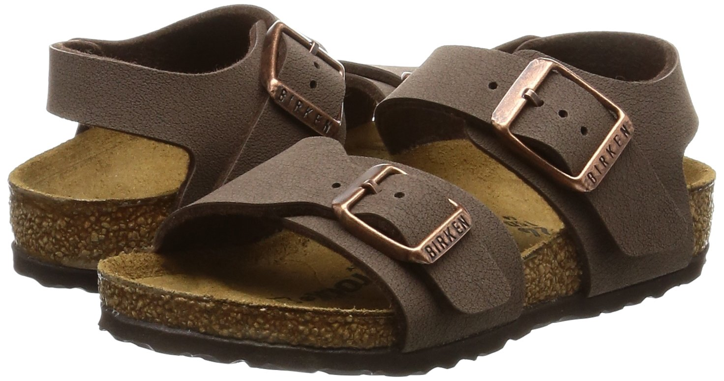 Birkenstock Unisex-Child New York Kids Mocca Birkibuc Sandals 24.0 N EU N 087783 by Birkenstock (Image #6)