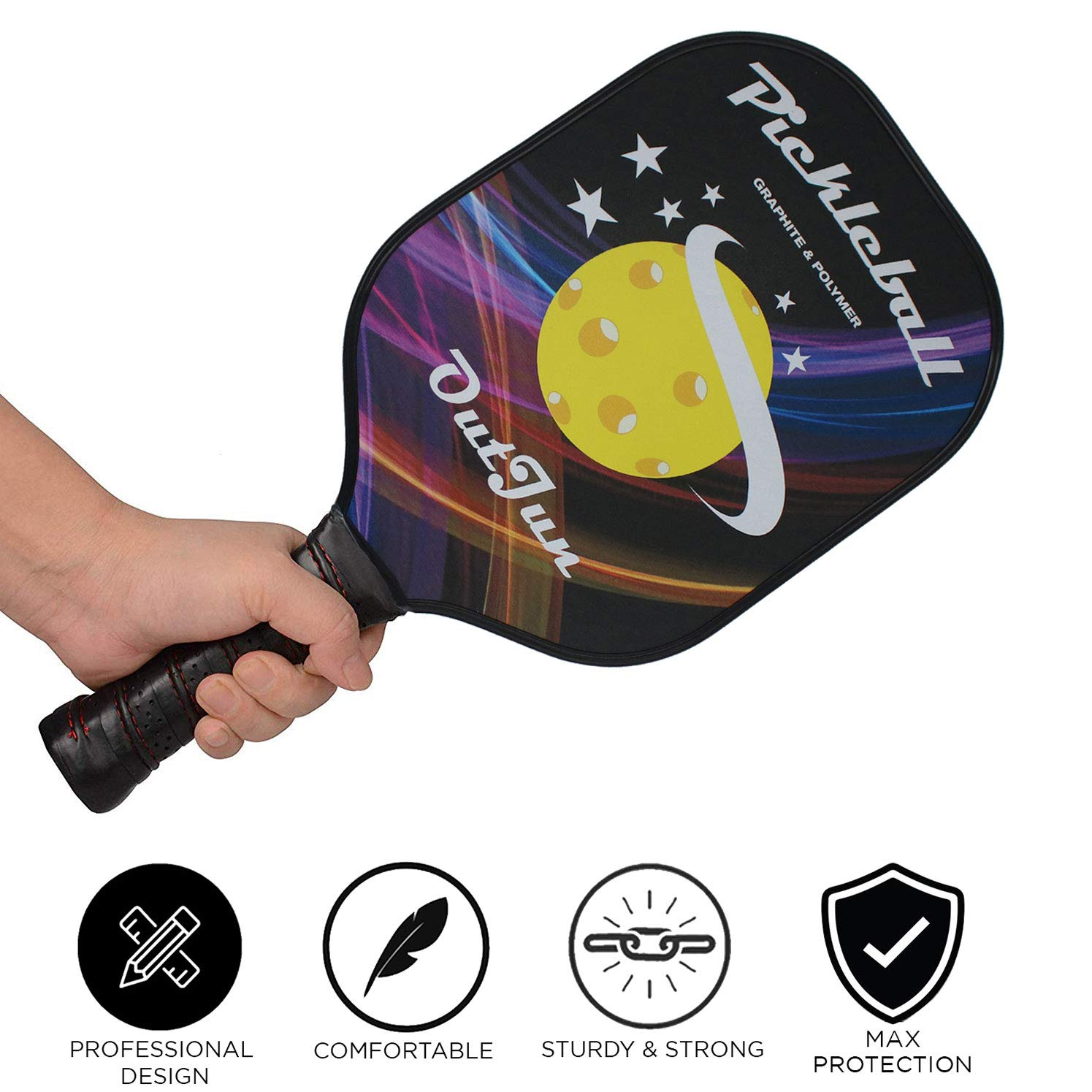 Amazon.com : OutJun Graphite Pickleball Paddle Single with Overgrip Replacements : Sports & Outdoors
