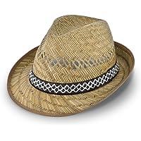skördehjälpare stråhatt (solskydd) kvinnor och män | solhatt i trilby-look | hatt av halm för sommaren på stranden eller…