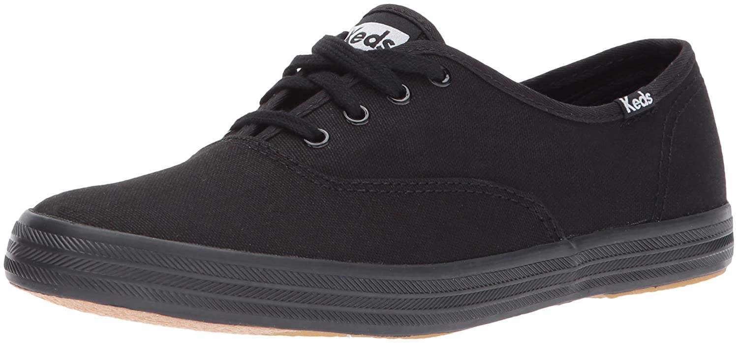 Keds Women's Champion Original Canvas Sneaker B01LOM2OEM 40-41 M EU / 9.5 B(M) US|Black/Black