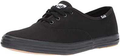 0c52ebe2b0ec0 Keds Women's Champion Original Canvas Sneaker, Black/Black, 8.5 M US