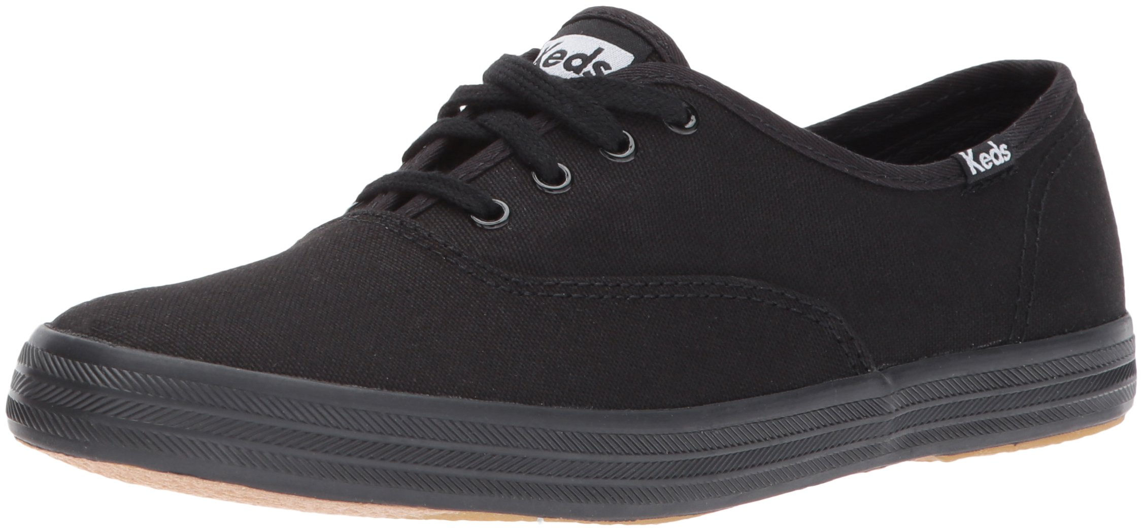 Keds Women's Champion Original Canvas Sneaker,Black/Black,8.5 M US