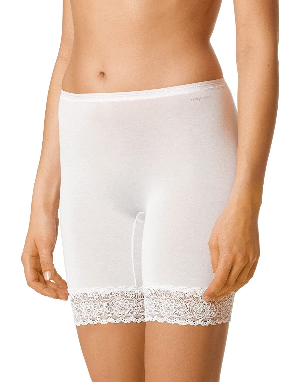 Mey 88210-1 Women's Lights White Solid Colour French Knickers Mey Women