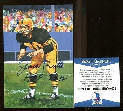 buy online 16cb1 df4be Jack Butler Signed Goal Line Art GLAC Autographed Steelers ...