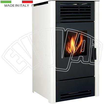 9 KW – Calefactor Beige – Estufa de pellets para calefacción casa Fuego Cálido