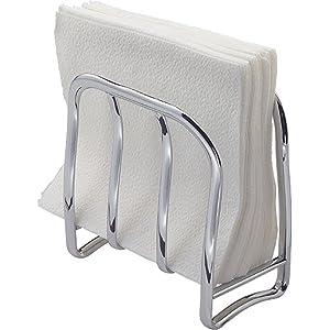 PMMA|ABS Chrome finish Table napkin holder Guzzini Fratelli Look