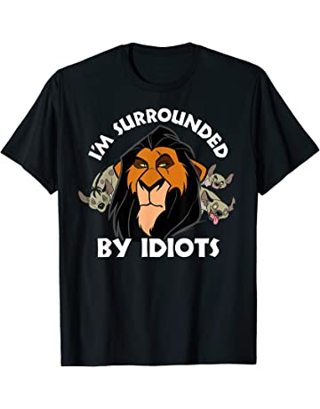 95834bcc Disney Lion King Scar Surrounded By Idiots Graphic T-Shirt