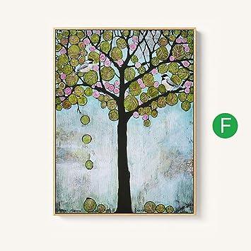Landschaft Malerei Sofa Hintergrund Dekoration Wandmalereien Art Veranda  Einfache Kombination Foto Wand 60X80cm