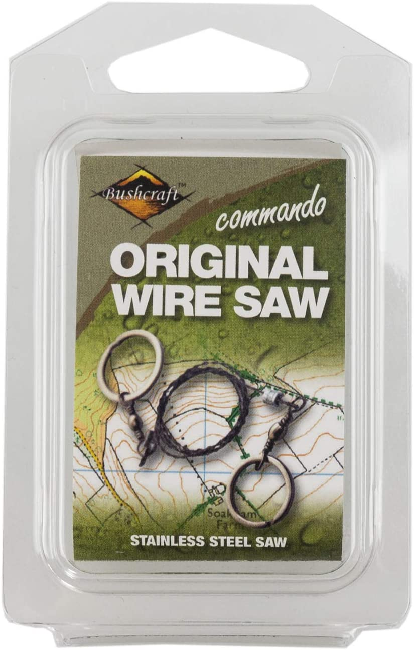 8 wire Bushcraft Commando Wire Saw Original CM020 Tightly woven stainless saw.