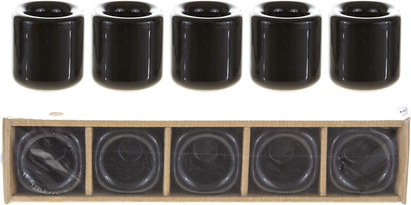 Mega Candles 5 pcs Black Ceramic Chime Ritual Spell Candle Holders Spells Witchcraft Great for Casting Chimes Wiccan Supplies /& More Vigil Rituals