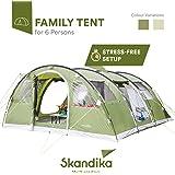 Skandika Gotland - Tenda familiare per 6persone con fondo cucito e colonna d'acqua da 5.000mm