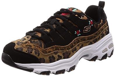 fae52e8e104b Amazon.com   Skechers D'Lites Leopard Rose Womens Sneakers Leopard 7 ...