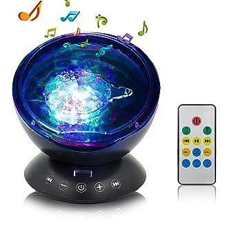 Proyector de luz nocturna, Ocean Wave proyector con control remoto ...