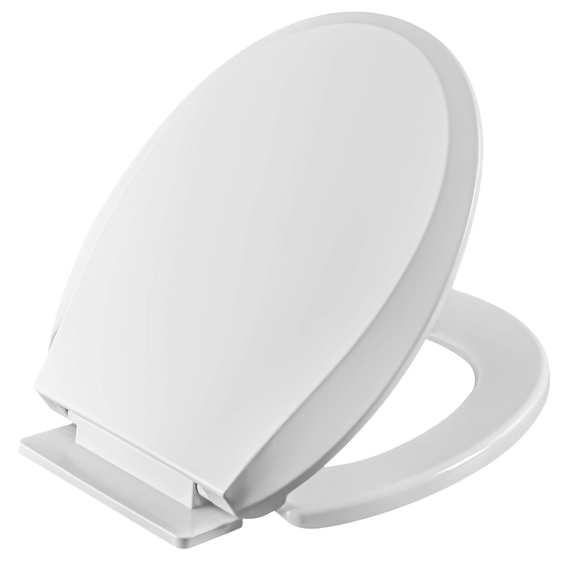 Winfield Heavy Duty Round Front Slow Close Toilet Seat with Hassle-Free Installation Kit, Easy Clean Hinges, Quiet Close Seat for American Standard, Kohler, Toto Toilet, White by Winfield