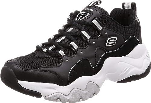 Details zu Skechers D'Lites Herren Schuhe Sneaker Turnschuhe 52675 (Schwarz BBK)