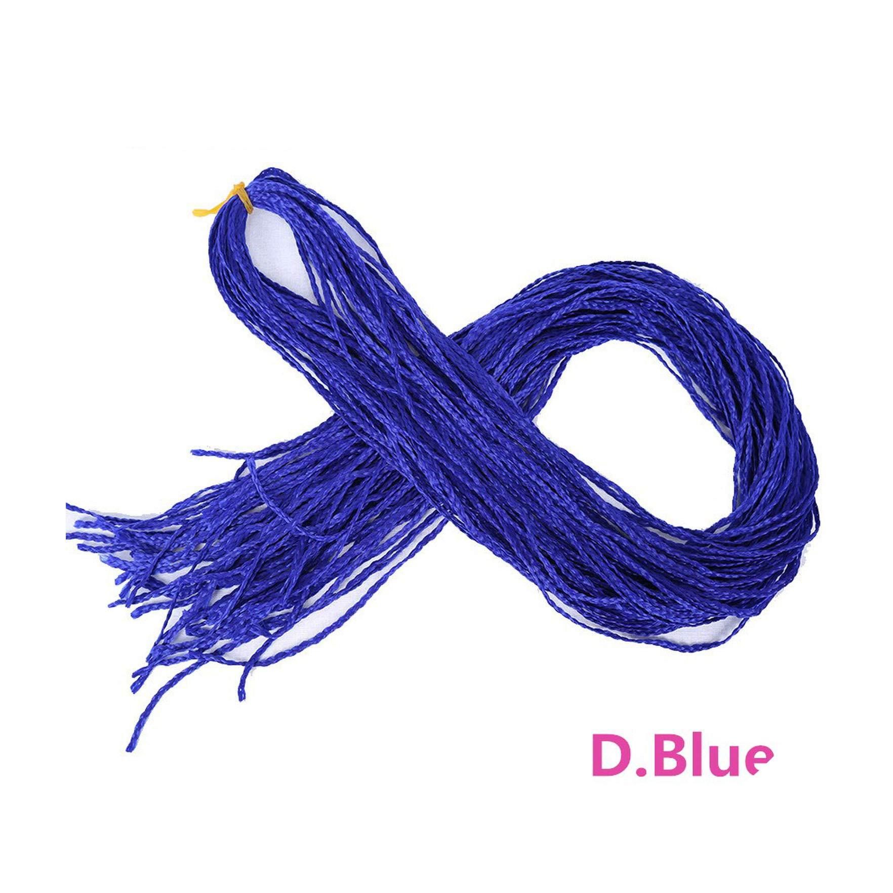 Chorliss 28'' Crochet Box Braids Zizi Braids Crochet Hair Bundles Synthetic Hair Extensions Braiding Hair Blonde Balck Grey Red,D.Blue,28Inches,6Pcs/Lot by Amazing21