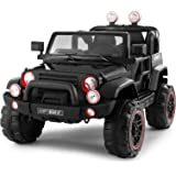 Fitnessclub Electric Cars for Kids, 12V Powered Kids Ride On Car with 2.4 GHZ Bluetooth Remote Control, LED Lights, MP3…