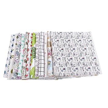 meinebe auty 1 pieza Patchwork sustancias DIY tejido ballena patrón Toalla de algodón tejido de lino costura Mantel decoración (98cmx48 cm): MeineBeauty: ...