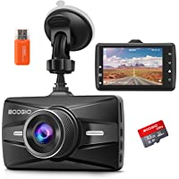 $49 » Dash Cam Front with 32G SD Card, BOOGIIO 1080P FHD Car Driving Recorder 3'' IPS…