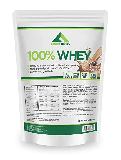 100% Whey 1000g Firm Foods Proteína de suero de Leche con los mejores ingredientes proteína