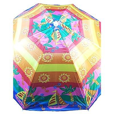Sol Summer Shade Beach Umbrellas (Shiny Sailing Day): Sports & Outdoors
