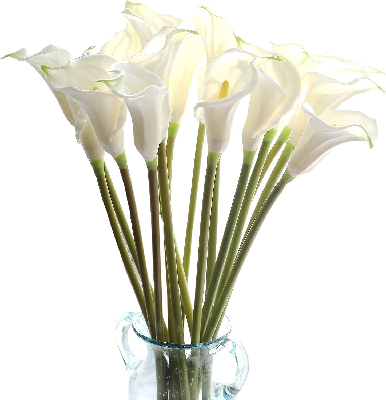 Amazon Com Cn Knight Artificial Flower 10pcs 26 Long Stem Calla