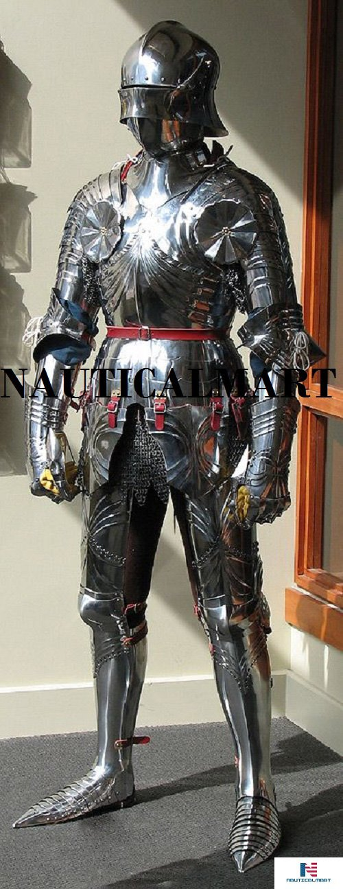 Halloween Medieval Reenactment Gothic Suit Of Armour, Full, German, circa 1470