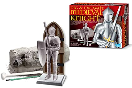 Amazon com: Dig & Excavate Medieval Knight: Toys & Games