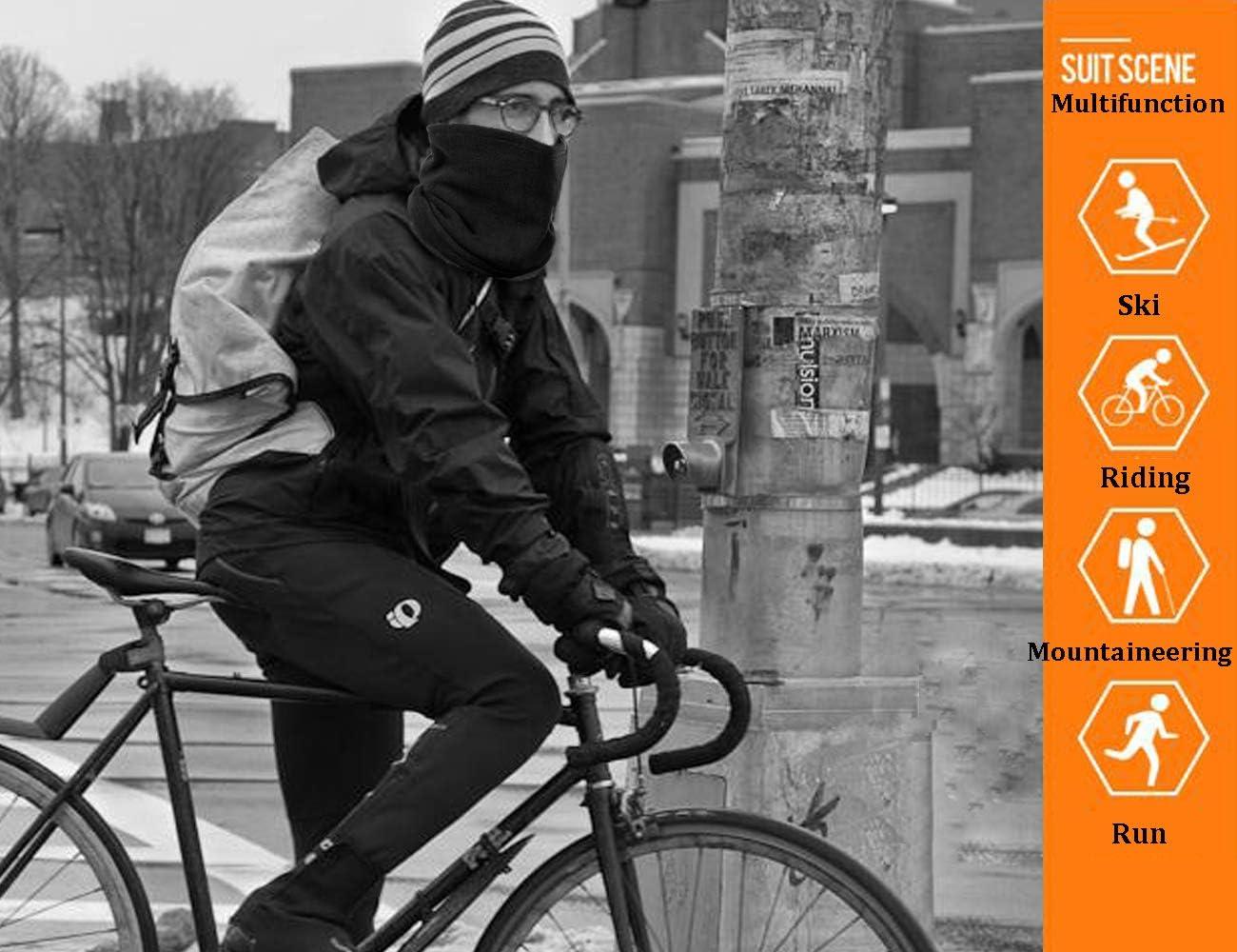 MOLEK Polar Multifunktionstuch Einfarbiger Winter Outdoor Motorrad Fahrrad Schlauchschal Halsw/ärmer Loop Schal mit Kordelzug f/ür M/änner Frauen