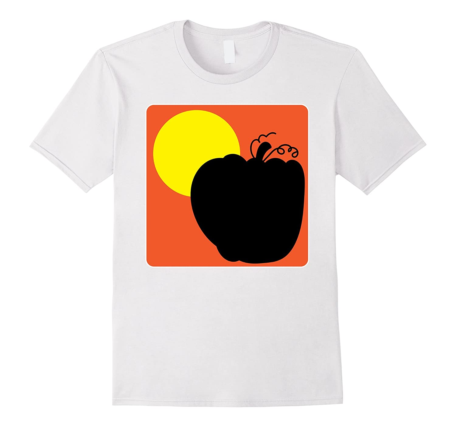 Huge Pumpkin Halloween T-Shirt Art Simple Design-FL