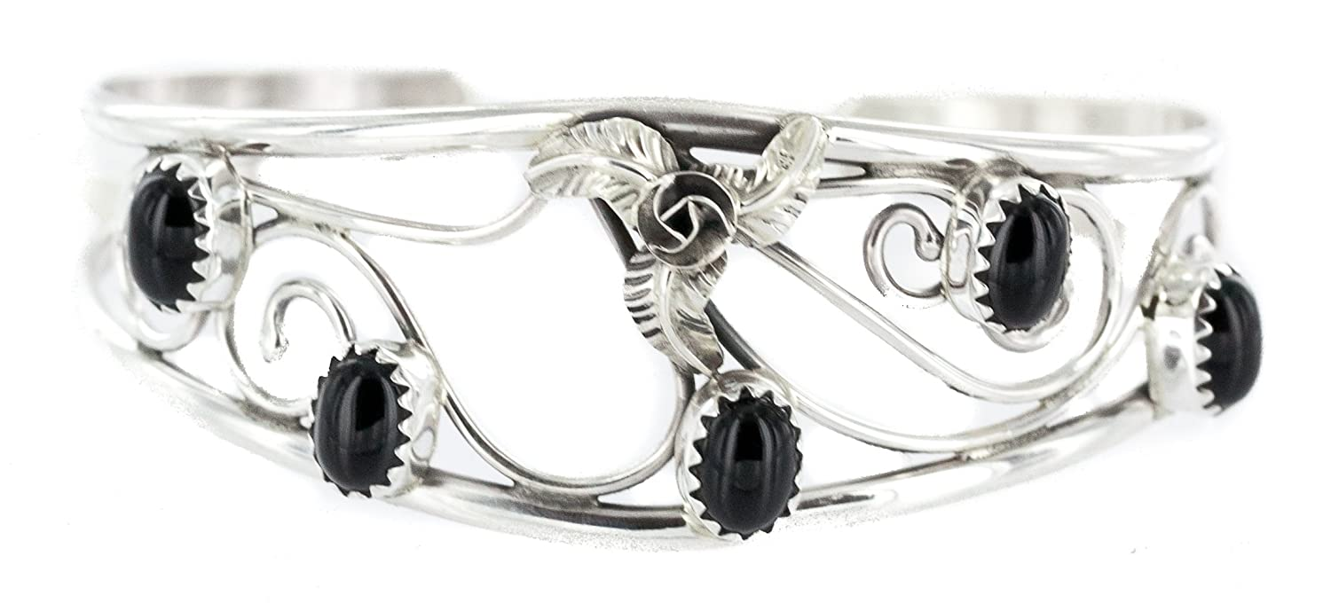 fc44417bf $250 Retail Tag Handmade Certified Authentic Silver Navajo Natural Black  Onyx Native American Bracelet: Amazon.ca: Jewelry