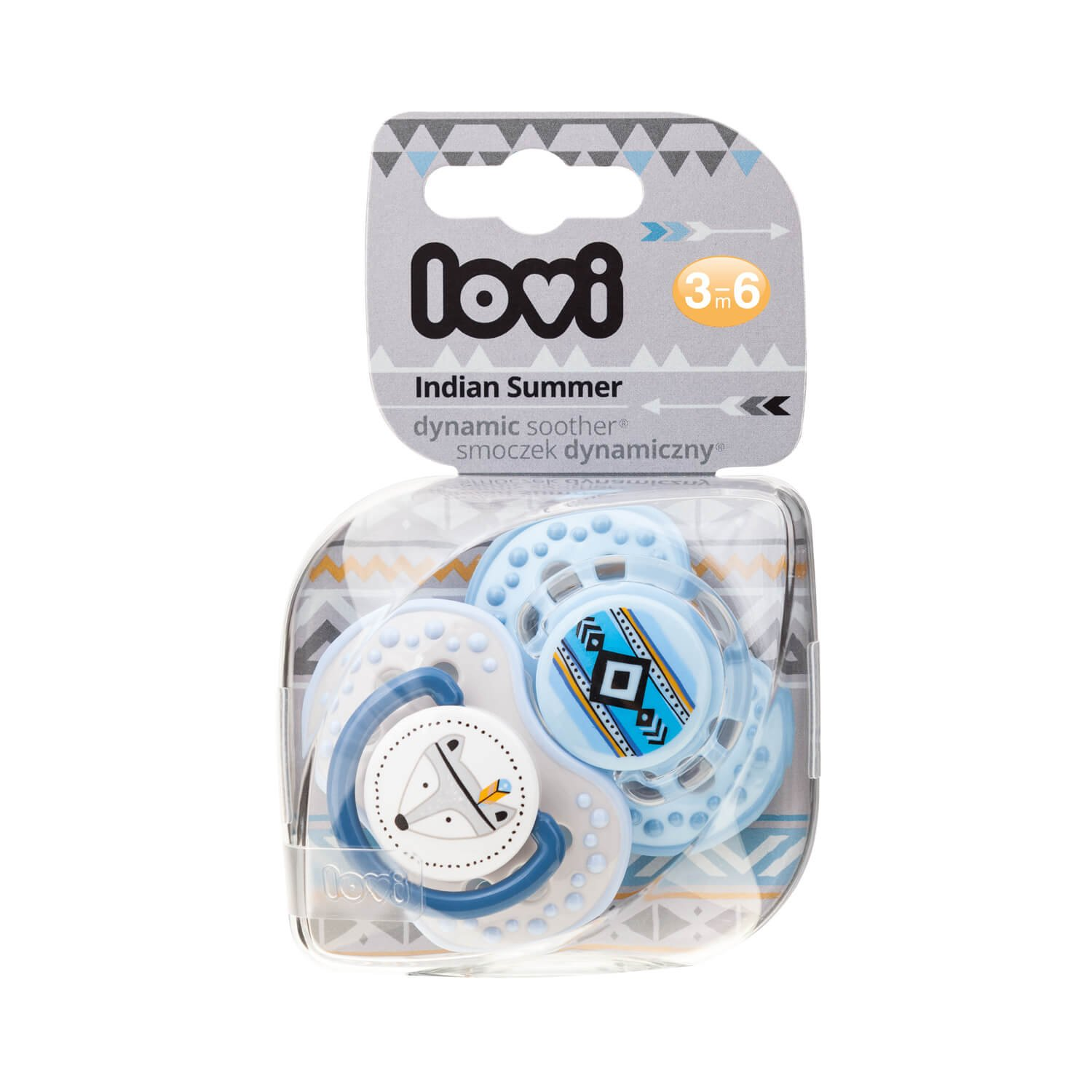 2/Pieces BPA Free 2/Protection Covers Indian Summer Lovi Dynamic Silicone Dummy Orthodontic