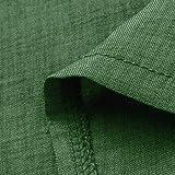 Libermall Womens Dress 3/4 Sleeve Buttons Turn-Down Collar with Pocket Solid Linen Mini Dress Beach Sundress