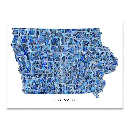 Amazon.com: Iowa Map Print, IA State Wall Art Decor, Blue ... on illinois map, ky map, usa map, interactive web map, md map, wy map, ok map, id map, ut map, nv map, mo map, davenport map, nationwide map, ga map, isot map, co map, ks map, ne map, mt map, ar map,