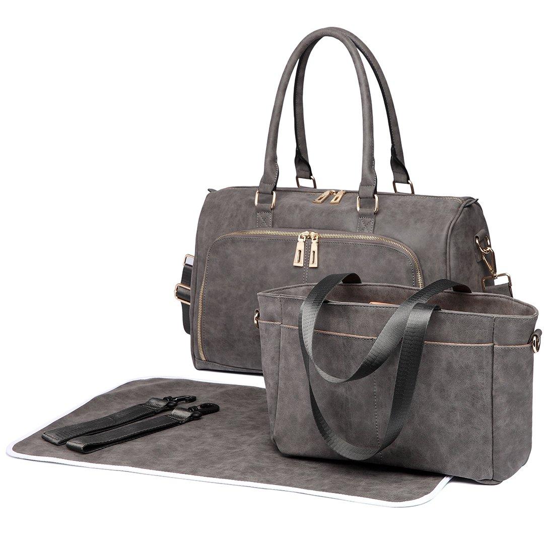 6638-BG Miss LuLu 3 St/ück Baby Windel Windel Wickeltasche Set mit Schnellen Handtasche PU-Leder