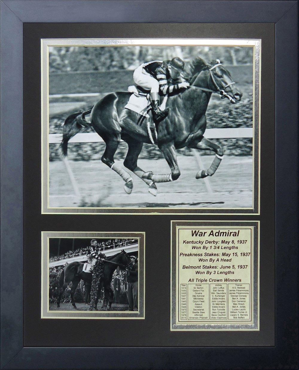 Legends Never Die War Admiral 1937 Triple Crown Winner Collage Photo Frame, 11 x 14 11 x 14 13103U