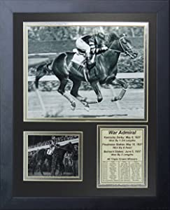 """Legends Never Die War Admiral 1937 Triple Crown Winner Collage Photo Frame, 11"""" x 14"""""""