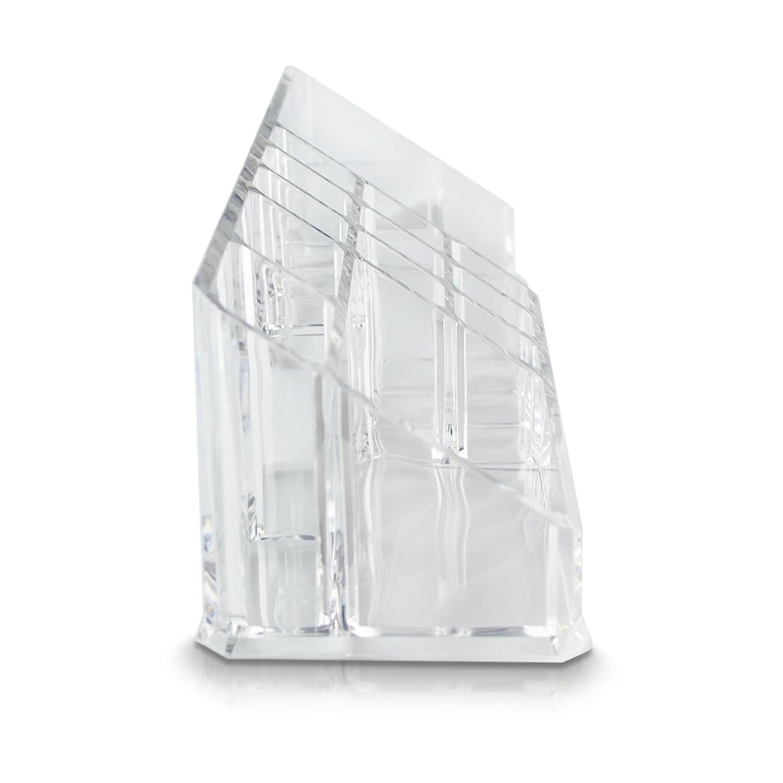 Grinscard Transparent ca 28 x 9 x 8 cm Universal Sortierkasten f/ür Make-up /& Stifte Kosmetik Organizer 14 F/ächer