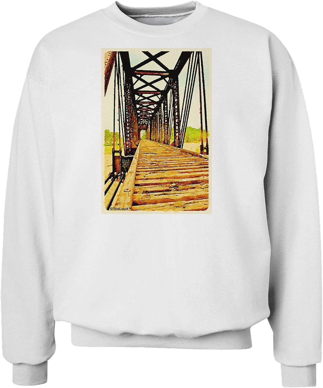 TooLoud Colorado Bridge Watercolor Sweatshirt