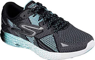 Skechers Women's GOmeb Razor Trainer,Black/Aqua,US ...