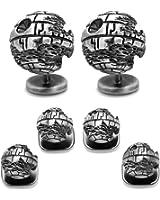 CUFFLINKS INC 3D Death Star II Stud Set (Silver)